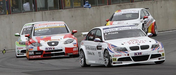 Andy Priaulx Leads the field at Zolder - Photo credit: fiawtcc.com