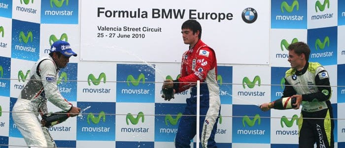 Fahmi Ilyas, Jack Harvey and Javier Tarancon - Formula BMW Europe 2010, Rd 05 & 06, Valencia, Saturday Podium - Photo credit: BMW AG