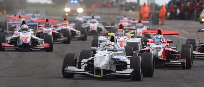 Marlon Stockinger leads the Formula Renault UK Field at Croft - Photo credit: Jakob Ebrey Photography