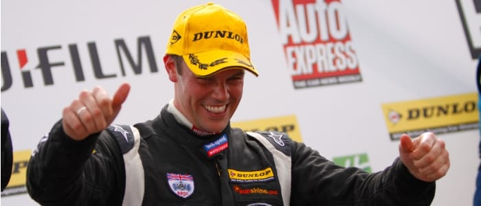Paul O'Neill on the podium at Croft - Photo credit: www.speedsnaps.co.uk