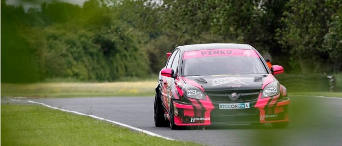 David Pinkney heads around Croft in today's qualifying - Photo credit: PSP Images