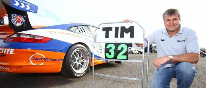 Tim Harvey after taking his 32 victory in the Porsche Carrera Cup GB