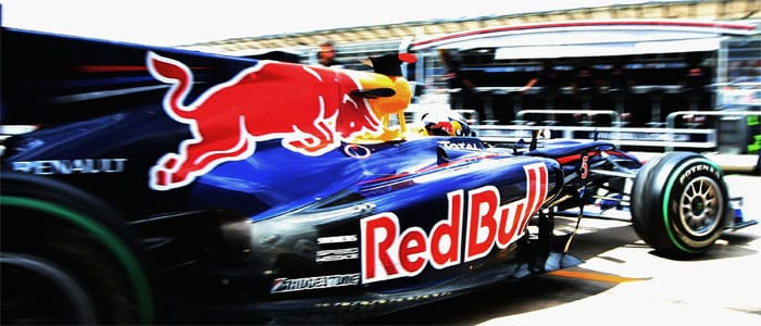 Vettel heads out on track at Valencia - Photo credit: Red Bull Racing
