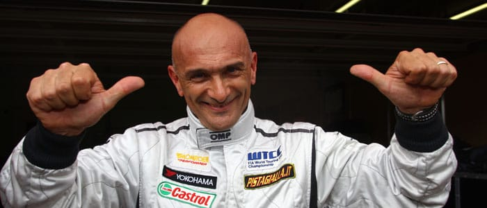 Gabriele Tarquini celebrates his WTCC Zolder Pole