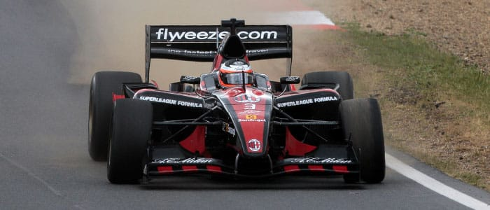 Chris van der Drift driving for AC Milan