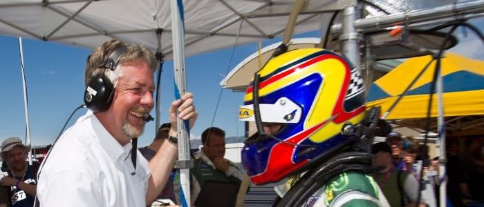 Dale White congratulates Jonny Cocker - Photo Credit: Regis Lefebure