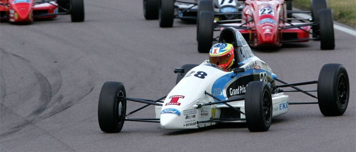 Ellinas leads the field in Race 2 - Photo credit: Jackob Ebrey Photography