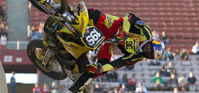 Travis Pastrana took his seventh Moto X Freestyle gold medal on Thrusday night at the Los Angeles Coliseum as X Games 16 got under way. There were rumours that Pastrana...