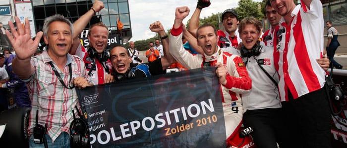 Van der Drift celebrates pole position