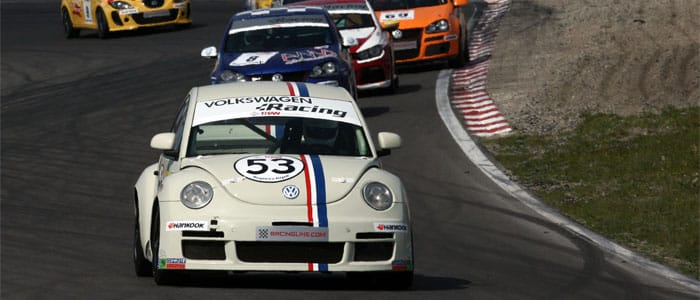 Steve Chaplin and 'Herbie' lead the way to Rockingham.