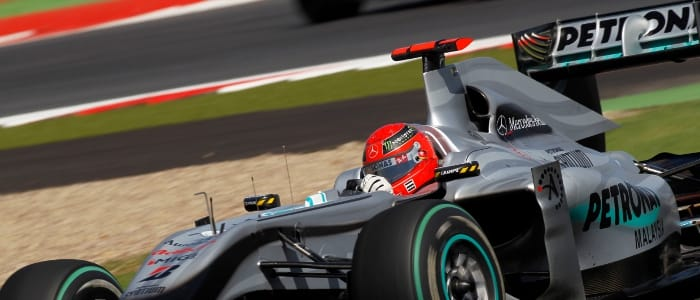 Michael Schumacher at Silverstone