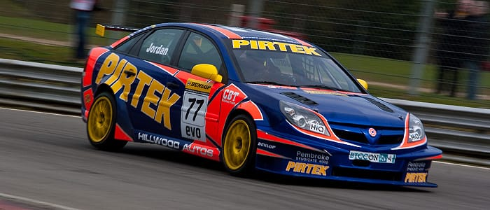 Andy Jordan on track at Brands Hatch - Photo credit: Vince Pettit Photography