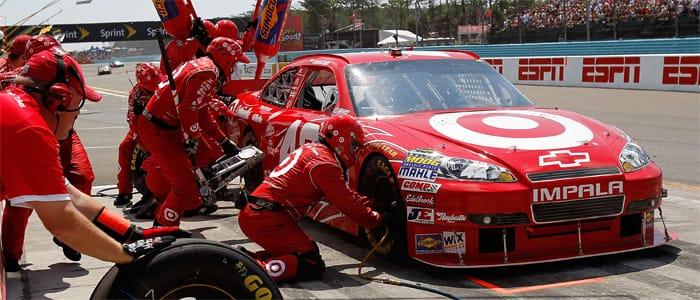 Montoya in the pits - Photo credit: NASCAR Media