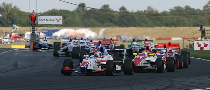 Harry Tincknell leads the field at Snetterton