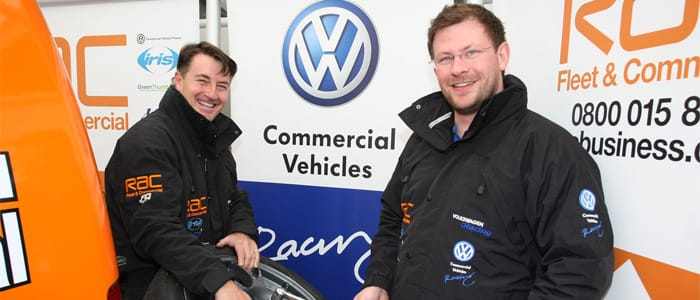 Darts player James Wade wields the spanner for Caddy racer Simon Elliott  Image by Jakob Ebrey Photography