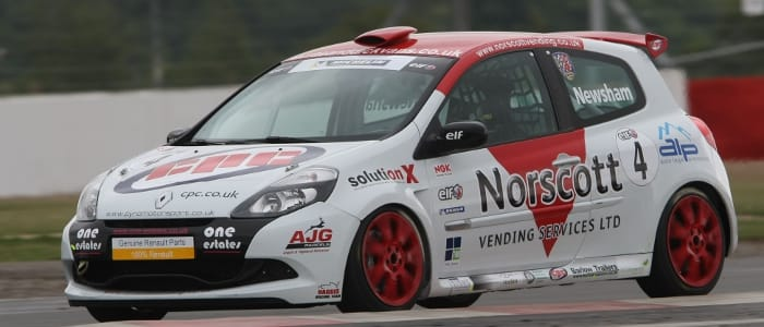 Clio Cup Leader Newsham - Photo Credit: Jakob Ebrey Photography