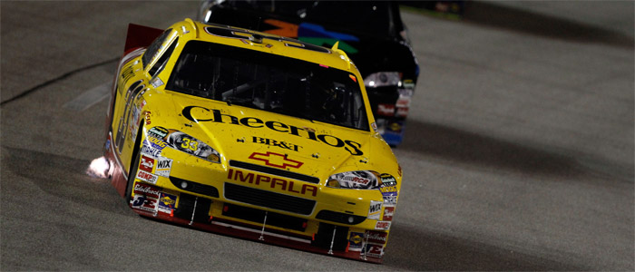Bowyer pits at New Hampshire: Photo Credit: Tom Whitmore/Getty Images for NASCAR