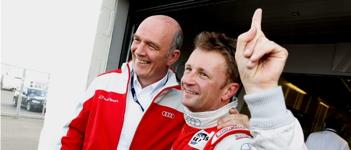 Allan McNish and Dr. Wolfgang Ullrich - Photo Credit: Audi Motorsport