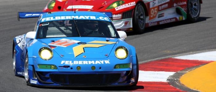 Felbermayr-Proton Porsche leads Ferrarr - Photo Credit: Porsche AG