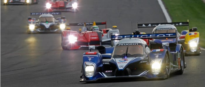 A works Peugeot leads the LMS field - Photo Credit: Peugeot Sport