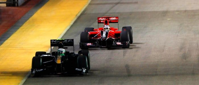 Lotus lead Virgin at Singapore - Photo Credit: Lotus Racing
