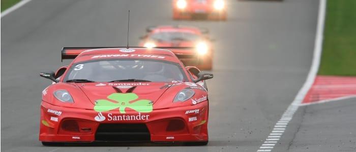 Rosso Verde lead at Donington - Photo Credit: British GT/SRO Ltd