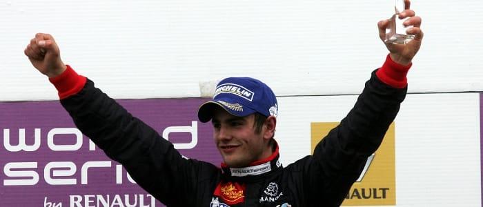 Lewis Williamson celebrates his Silverstone double win - Photo Credit: Jakob Ebrey Photography