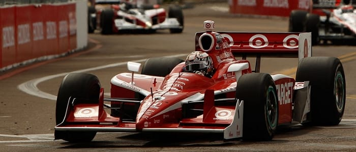 Scott Dixon in on of Ganassi's familiar Target backed Indycars