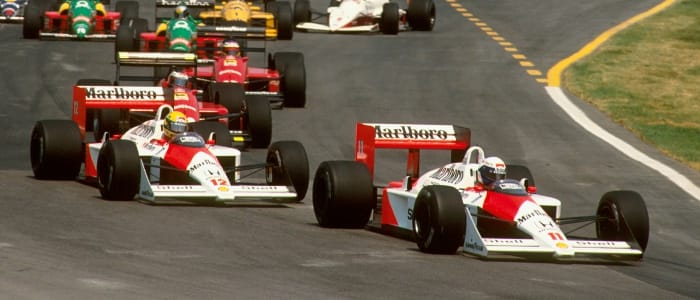 Prost and Senna in the MP4/4