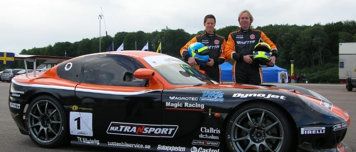 Bjorn and Anders with the Magic Ginetta