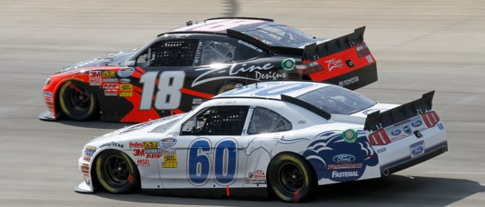 Carl Edwards and Kyle Busch in Nationwide competition - Photo Credit: Jason Smith/Getty Images for NASCAR