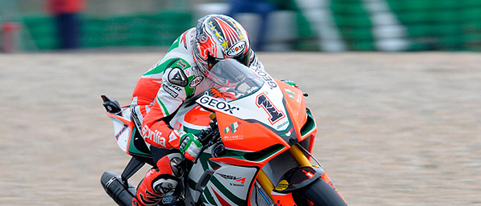 Max Biaggi - Photo credit: Aprillia