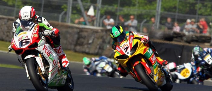 Michael Rutter leads a pack