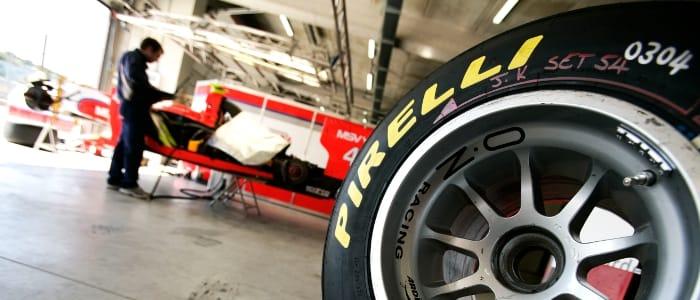 Pirelli tyre - Photo Credit: Drew Gibson/GP2 Media Service