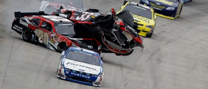 Nationwide wreck - Photo Credit: Todd Warshaw/Getty Images for NASCAR