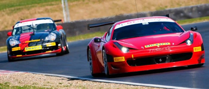 Leon Price and Rob Barff's Ferrari 458 In The GT Trophy