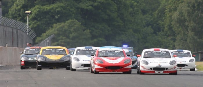 Seb Morris Leads The Ginetta Junior Field (Credit: Jakob Ebrey Photography)