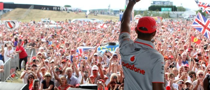 Lewis Hamilton at the Silverstone 2010 Grand Prix Party - Photo Credit: Silverstone Circuit