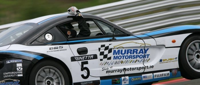 Murray Celebrating His Second Place At Oulton Park