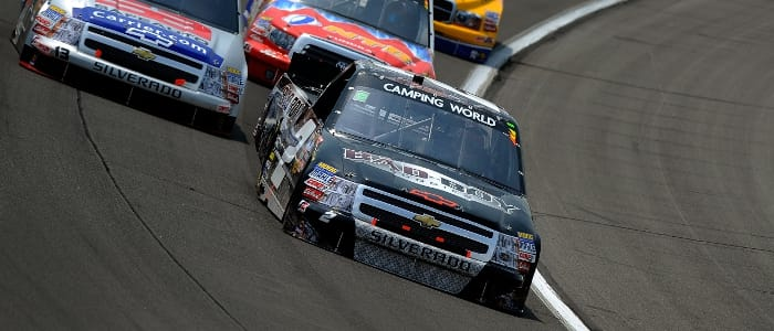 Clint Bowyer leads - Photo Credit: Jared C. Tilton/Getty Images for NASCAR