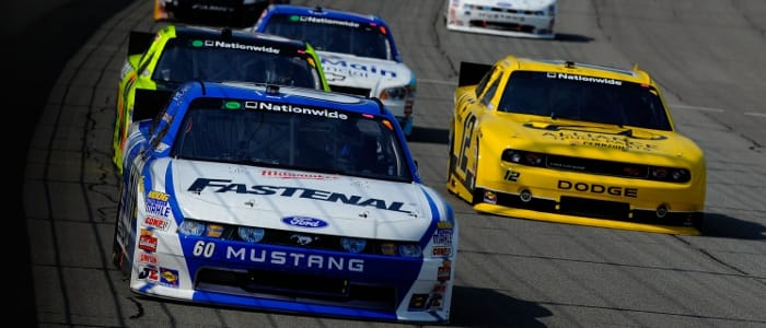 Carl Edwards leads - Photo Credit: Jared C. Tilton/Getty Images for NASCAR