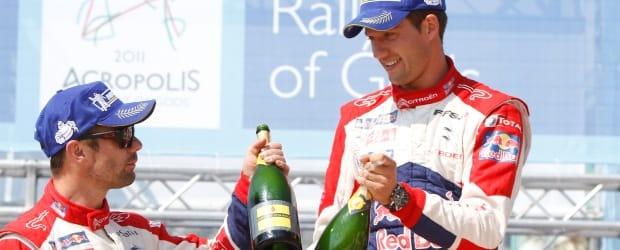 The two Sebastiens: Loeb and Ogier - Photo Credit: Citroen Racing Media