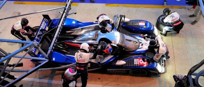 Peugeot pitstop - Photo Credit: Peugeot Sport