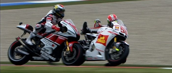 Simoncelli and Lorenzo crash - Photo Credit: motogp.com