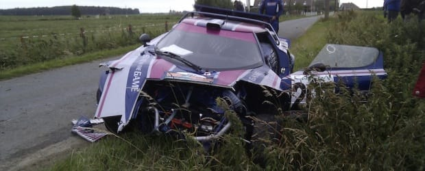 Steve Perez's Lancia Stratos after the accident