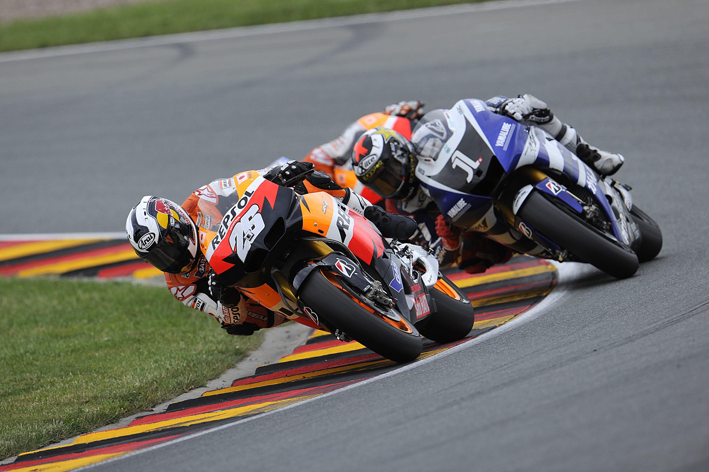 Dani Pedrosa leads Jorge Lorenzo - Photo Credit: Bridgestone