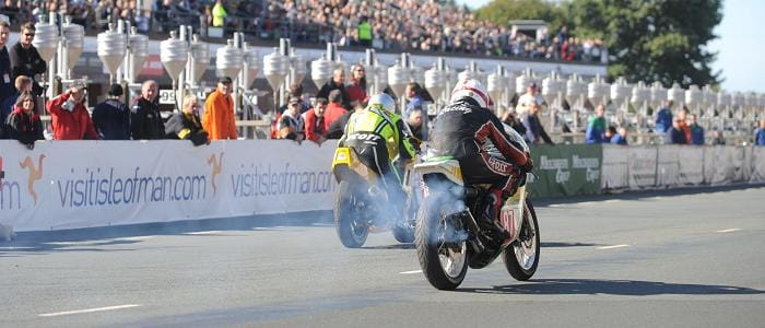 Spectacular Action at the Manx Grand Prix Festival - Photo Credit: MGP Festival