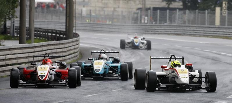 Melker unknowingly on his way to victory - Photo Credit: F3Euroseries.com