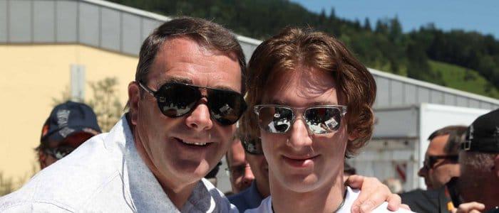 Nigel Mansell and Mirko Bortolotti