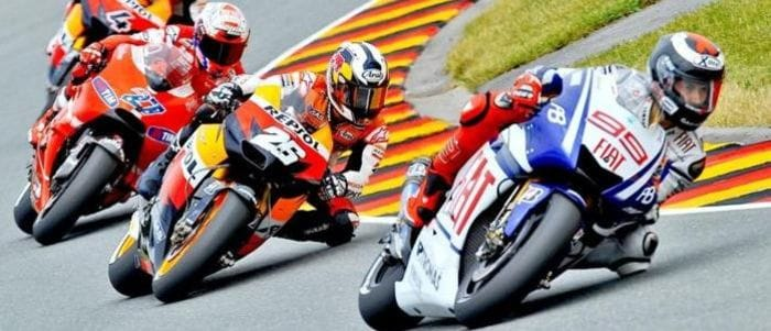 MotoGP Action at the Sachsenring in 2010 - Photo Credit: MotoGP.com